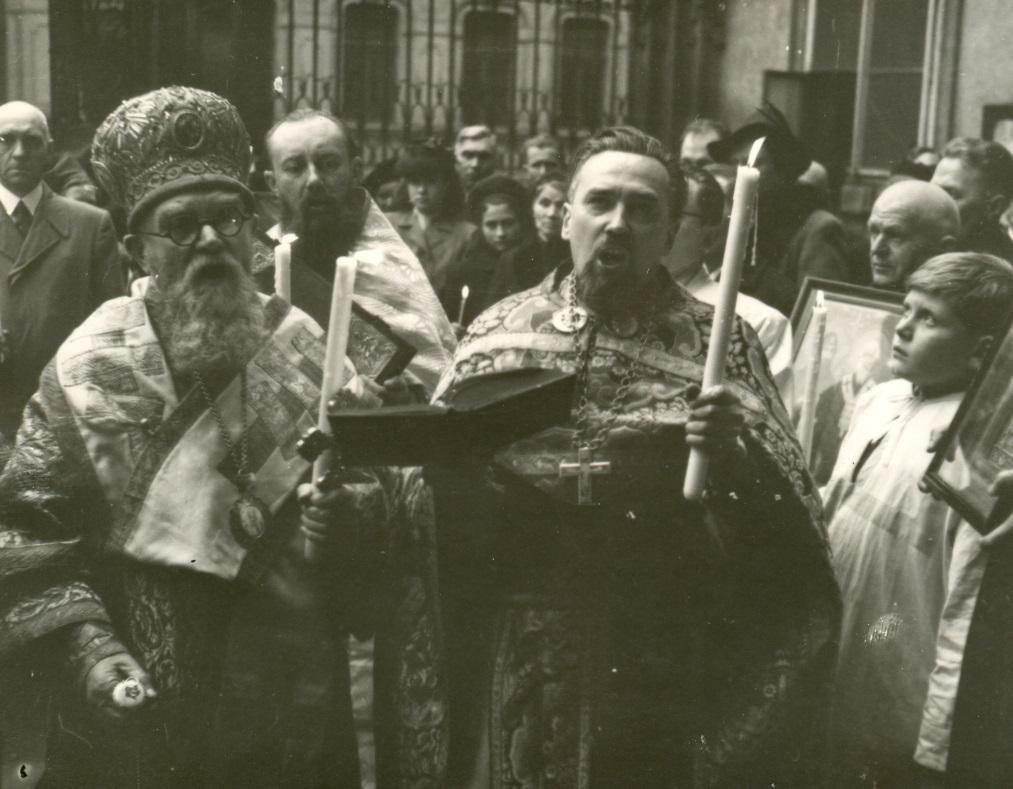 Bisbip Gorazd s Čiklem při poslední velikonoční bohoslužbě