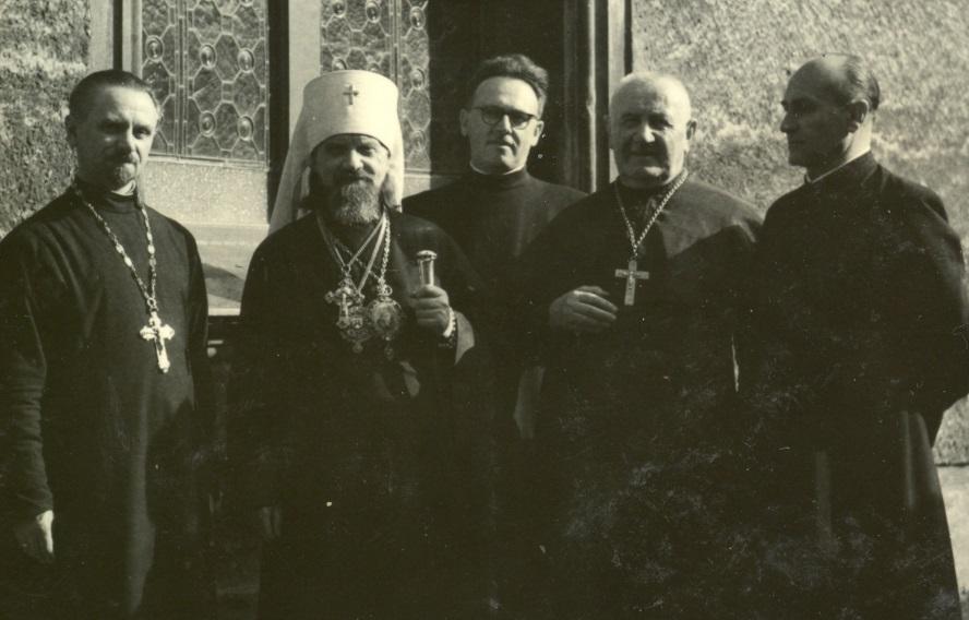Návštěva biskupa Jelevferije v Přerově v roce 1954