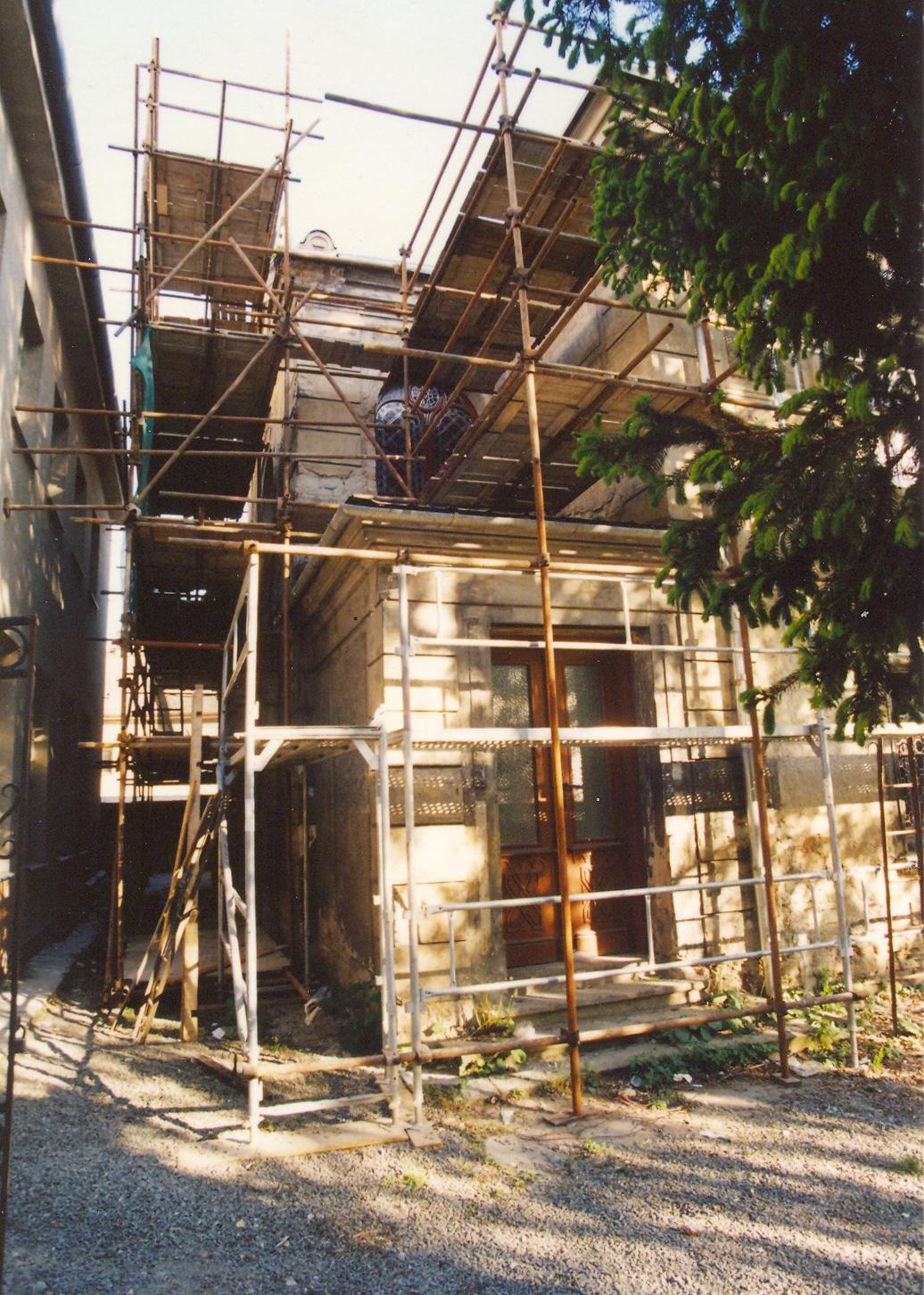 Oprava fasády chrámu